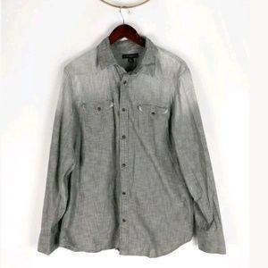 Banana Republic factory faded snap down slim shirt